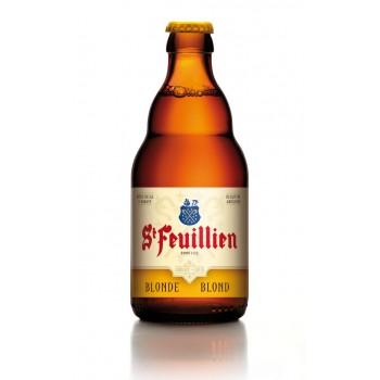 Пиво St-Feuillien Blonde (Сен Фёйен Блонд) солодовое светлое пастеризованное 0.33 л х 24 ст.бут.