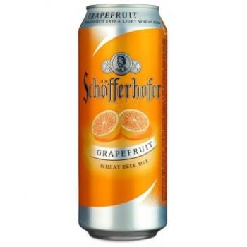 Пивной напиток Schofferhofer Grapefruit (Шофферхофер Грейпфрут) нефильтрованное 0,5 л x 24 ж/б
