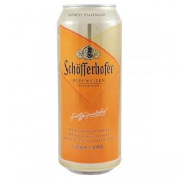Пиво Schofferhofer Hefeweizen (Шоферхофер Хефевайзен) нефильтрованное 0,5 л x 24 ж/б
