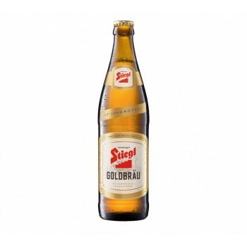 Пиво STIEGL GOLDBRAU (Штигль Голдбрау) светлое фильтрованное 0.5 л x 20 ст.бут.