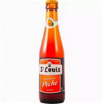 Пивной напиток Van Honsebrouck St. Louis Premium Peche (Ван Хонзебрук Сан Луи премиум Пич) персиковый, 0.25 л х 24 ст.бут.