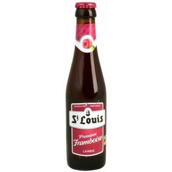 Пивной напиток Van Honsebrouck St. Louis Premium Framboise (Ван Хонзебрук Сан Луи Премиум Фрамбуа) малиновый, 0.25 л х 24 ст.бут.