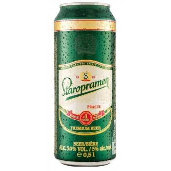 Пиво Staropramen (Старопрамен) светлое фильтрованное пастеризованное 0,5 л х 24 ж/б