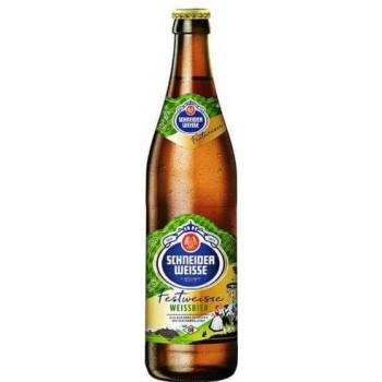 Пиво Schneider Weisse TAP 4 Meine Festweisse (Шнайдер Вайс ТАП 4 Майне Фествайсс) светлое непастер нефильтр 0,5x20 бут.