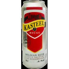 """Пивной напиток Van Honsebrouck Kasteel Rouge (Ван Хонзенбрук """"Кастил Руж"""") тёмное нефильтрованное 0,5 л х 24 ал. банка"""