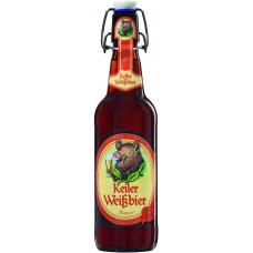 Пиво Keiler Weissbier Dunkel (Кайлер Вайсбир Дункель) тёмное нефильтрованное 0.5 х 20 ст.бут. алк. 5.2%