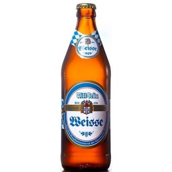 Пиво WILL-BRAU Hefe Weizen (ВИЛЛ-БРАУ Хефе Вайзен) светлое нефильтрованное 0,5 л х 20 ст.бут.