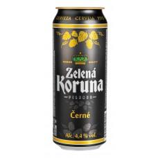 Пиво Zelena Koruna Cerne (Зеленая Корона Черне) темное фильтрованное 0,5 л х 12 ж/б
