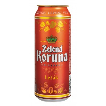 Пиво Zelena Koruna Lezak (Зеленая Корона Лежак) светлое фильтрованное 0,5 л х 12 ж/б