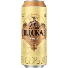 Пиво Лидское БЕЛОЕ свет.паст 0,45 л x 24 ж/б, Лидское пиво