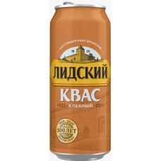 Квас Лидский Хлебный б/а газ.паст 0,5 л x 24 ж/б