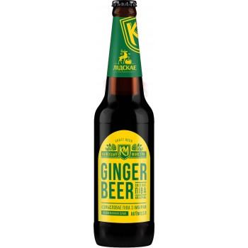 Пиво светлое специальное GINGER BEER алк 5.3 % 0,5 л. x 20 ст.бут, Лидское пиво