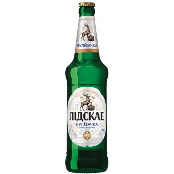 Пиво Лидское Нулевочка безалкогольное свет.паст 0,5 л. x 20 ст.бут, Лидское пиво