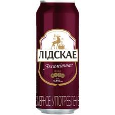 Пиво Лидское Бархатное темное 0,5 л. x 24 (БАНКА) алк. 4,8 %