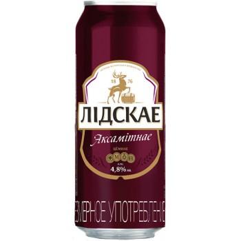 Пиво Лидскае Аскамитнае (Лидское Бархатное) темное 0,5 л ж/б