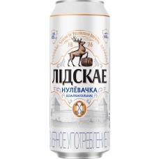 Пиво Лидское Нулевочка безалкогольное свет.паст 0,45 л. x 24 ж/б, Лидское пиво