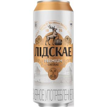 Пиво Лидскае Premium (Лидское Премиум) светлое 0,45 л ж/б