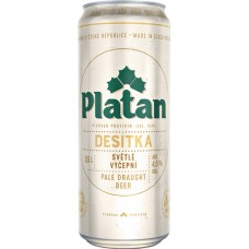 Пиво Platan Desitka 10 (Платан десятка) светлое 0.5л ж/б