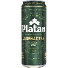 Пиво Platan JEDENACTKA 11 (Платан одиннадцать) светлое ж/б 0,5 х24 шт. алк.4,6% /Чехия