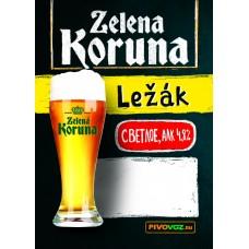 Пиво Zelena Koruna Lezak (Зеленая Корона Лежак) светлое фильтрованное 30 л. ПЭТ-КЕГ