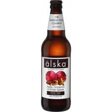 Сидр Alska Apple Cinnamon (Альска яблоко и корица) 0.5 л х 12 ст.бут.