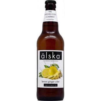 Сидр Alska Lemon Ginger (Альска лимон и имбирь), 0.5 л х 12 ст.бут. алк. 4.0%