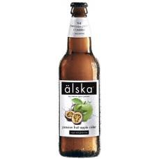 Сидр Alska Passion Fruit Apple (Альска яблоко маракуйя), 0.5 л х 12 ст.бут. алк. 4.0%