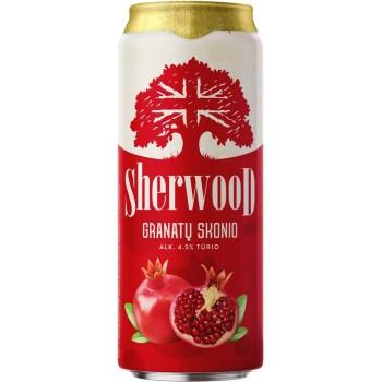 Сидр Sherwood Pomegranate (Шервуд гранатовый) сладкий 0,5л. х 24 ж/б алк. 4,5%