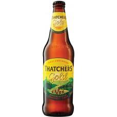 Сидр Thatchers Gold (Тэтчерс Голд яблочный полусухой) 0.5 х 12 ст.бут. алк. 4.8%
