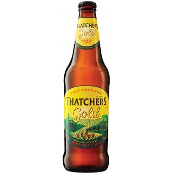 Сидр Thatchers Gold (Тэтчерс Голд яблочный полусухой) 0.5 х 12 ст.бут. алк. 4.8%