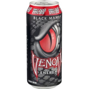 Газированный напиток б/а тонизирующий VENOM Black Mamba 0,473x24 бан.