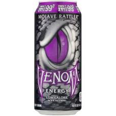Газированный напиток б/а тонизирующий VENOM Mojave Rattler Low Calorie 0,473x24 бан.