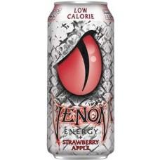 Газированный напиток б/а тонизирующий VENOM Strawberry Apple Low Calorie 0,473x24 бан.