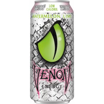 Газированный напиток б/а тонизирующий VENOM Watermelon Lime Low Calorie 0,473x24 бан.