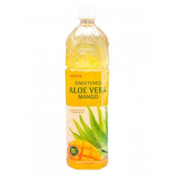 Напиток Lotte Aloe Vera Mango (Лотте Алоэ Вера Манго) 1,5 л x 12 ПЭТ