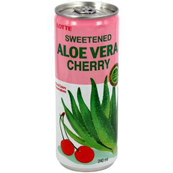 Напиток Lotte Aloe Vera Cherry (Лотте Алоэ Вера Вишня) 0,24 л x 30 ж/б