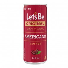 Кофейный напиток Lotte let's be AMERICANO (Лотте Американо) 0,24 л x 30 ж/б