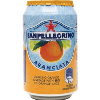 Напиток б/алк Сан Пеллегрино Апельсин газ сокосодержащий 0,33 x 24 ж/б /Sanpellegrino Aranciata