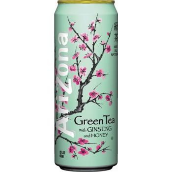 Холодный чай ARIZONA TEA GREEN TEA 0,680 x 24 ж/б (США)