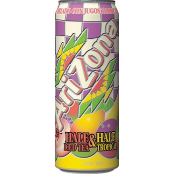 Холодный чай ARIZONA TEA HALF TROPICAL 0,680 x 24 ж/б (США)