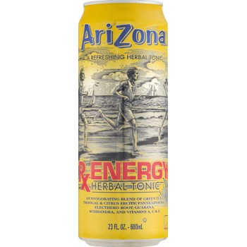 Напиток ARIZONA RX ENERGY HERBAL TONIC 0,680 x 24 ж/б (США)