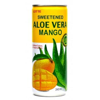 Напиток Lotte Aloe Vera Mango (Алоэ Вера Манго) 0,24 л x 30 ж/б