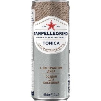 Напиток б/алк Сан Пеллегрино TONICA с экстрактом дуба 0,33 x 24 ж/б