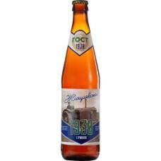 Пиво Таркос Жигулевское 1930 светлое нефильтрованное пастеризованное 0,5 x 20 ст.бут. алк. 3,6%