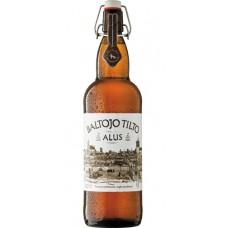 Пиво Vilniaus Baltojo Tilto (Вильнюс Белый Мост) светлое нефильтрованное 1.0л ст.бут. (Литва)