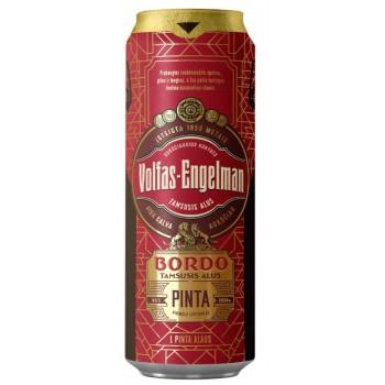 Пиво Volfas Engelman BORDO (Вольфас Энгельман БОРДО) тёмное фильтрованное 0,568 л х 24 ж/б
