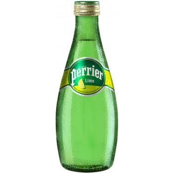 Вода Перье Лайм 0.33х24 ст.бут/Perrier Lime